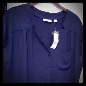 New York & Company women's popover blouse